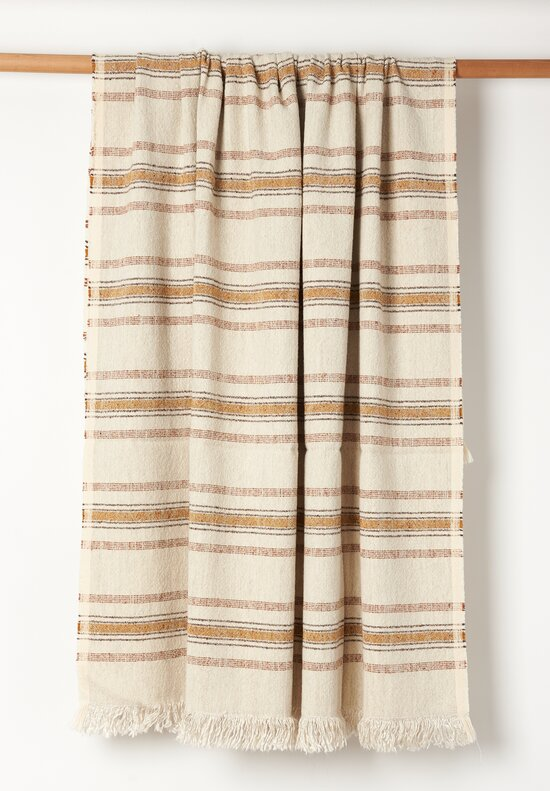 Uniq'uity Justin Decorative Throw Natural & Orange
