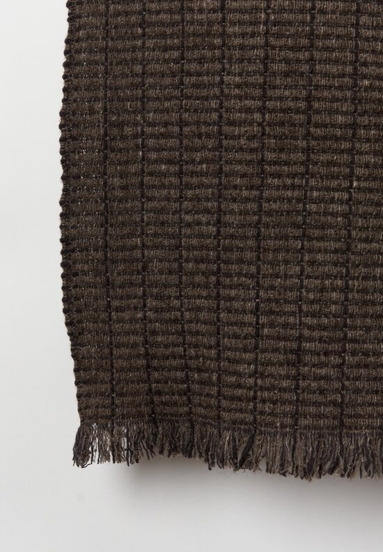 Teixidors Handmade Yak/Merino Wool Tile Throw l in Slate