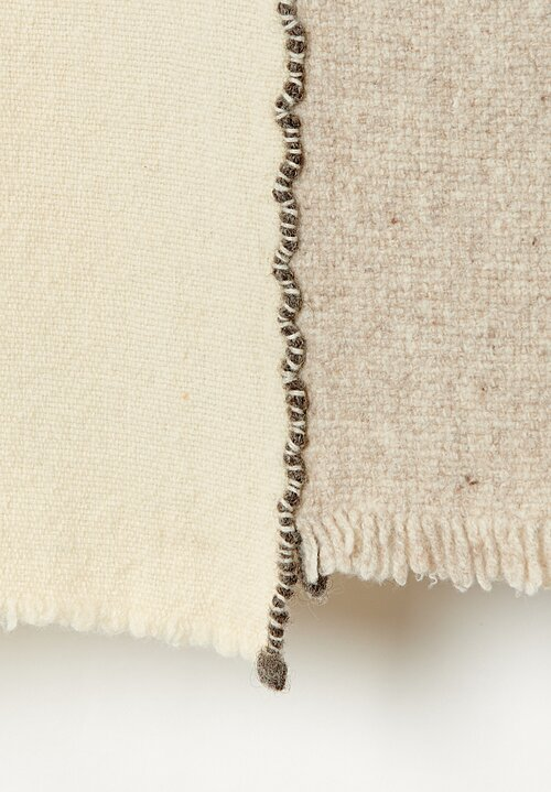 Teixidors Ecological Merino Wool Criss-Cross l Throw in Grey / Off White
