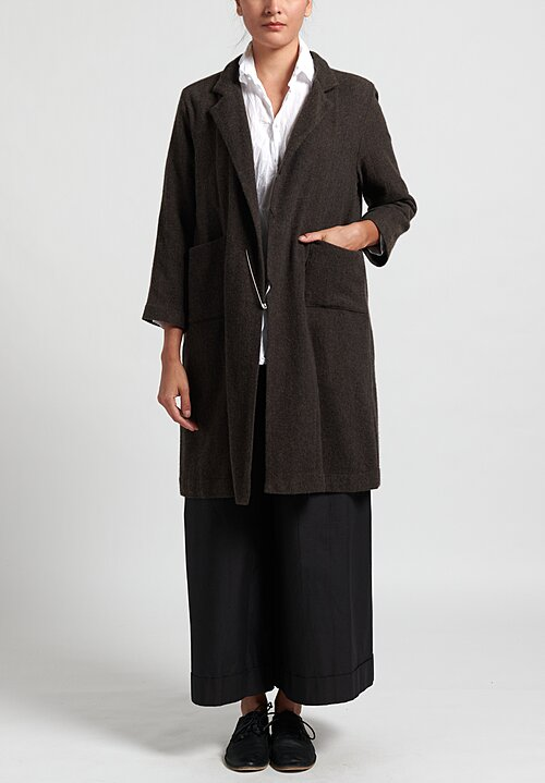 Daniela Gregis Cashmere Chicory Point Coat in Brown