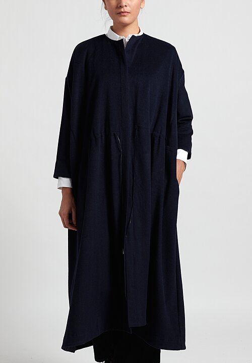 Kaval Cashmere Open Front Long Coat