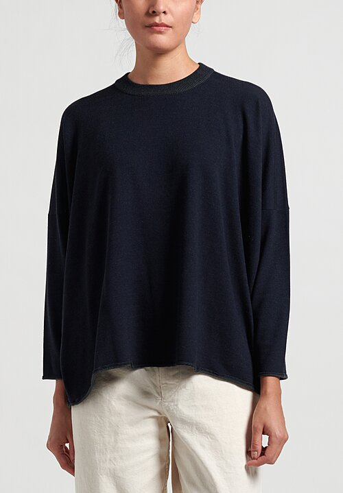 Kaval Wool Big Crew Neck Knit