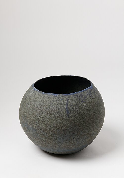 Linda Ouhbi Light Blue Handmade Wide Ceramic Pot