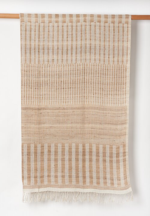 Neeru Kumar Hand-loomed Linen/Silk Throw