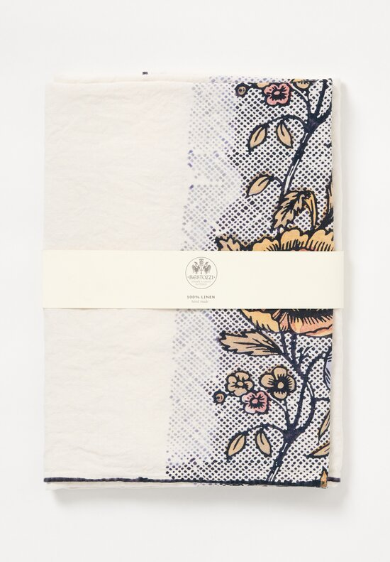 Bertozzi Handmade Linen Tablecloth in Peonia