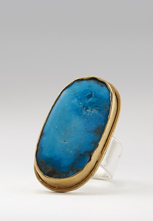 Greig Porter 22K & Sterling, Old Persian Turquoise Ring ll
