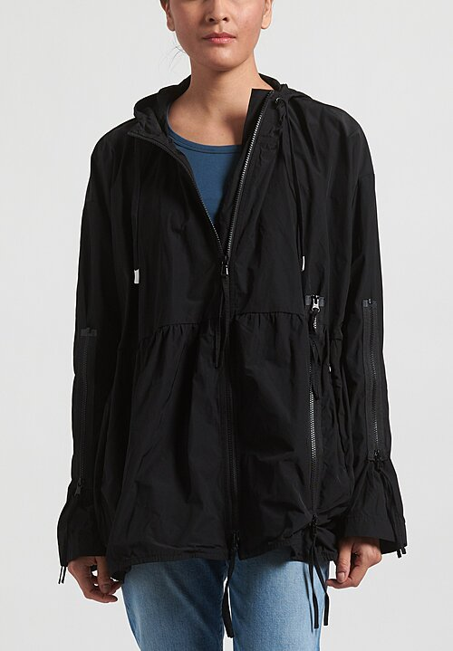 Rundholz Black Label Multi-Zipper Hooded Jacket in Black
