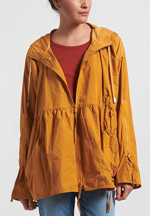 Rundholz Black Label Multi-Zipper Hooded Jacket in Mango Yellow