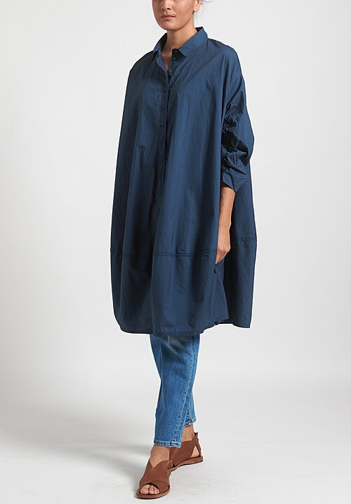 Rundholz Balck Label Collared Tunic in Plum Blue