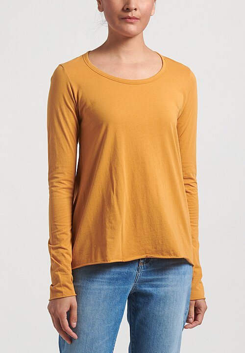 Rundholz Black Label Long Sleeve T-Shirt	in Mango Yellow