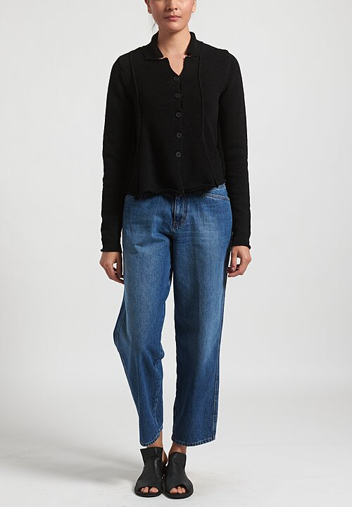 Rundholz Black Label Flared Panel Cardigan in Black