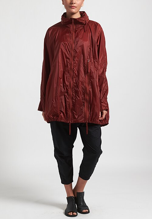 Rundholz Black Label Lightweight Multi-Zipper Jacket in Berry Red