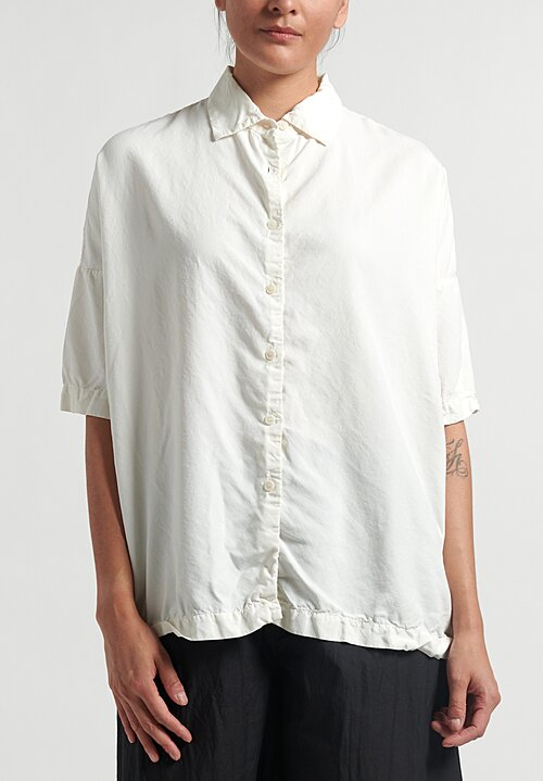Casey Casey Soft Silk Button Up P4 Shirt in White