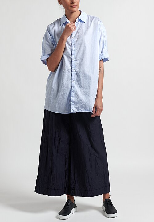 Casey Casey Striped Waga Shirt	in Light Blue