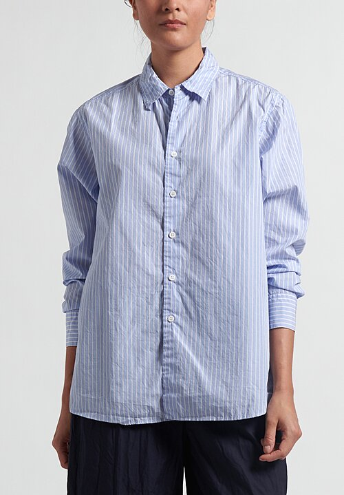 Casey Casey Striped Fabiano Shirt in Blue and White