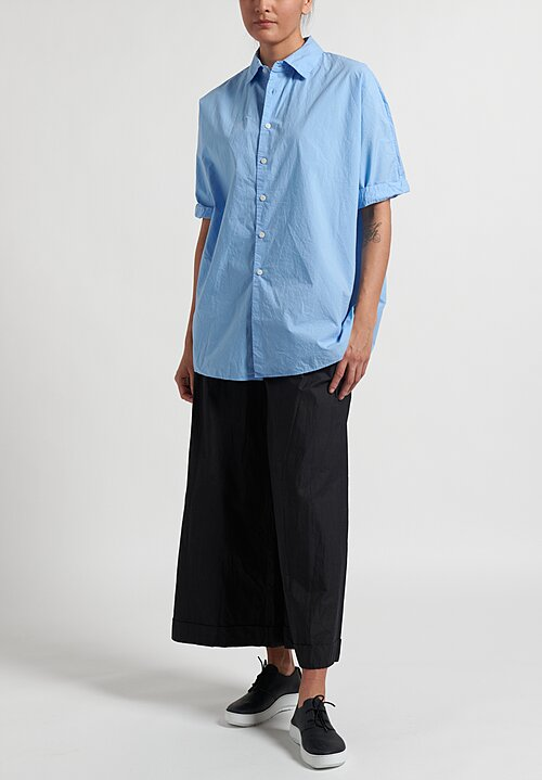 Casey Casey Solid Waga Shirt in Sky Blue
