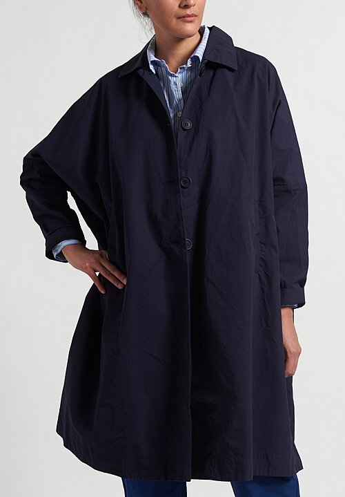 Casey Casey Oversized Atomless Coat in Navy Blue