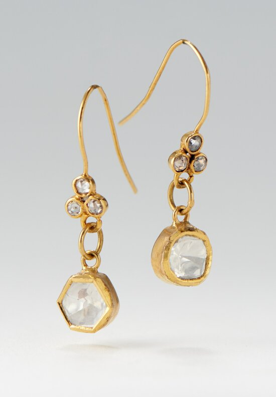 Greig Porter 18K, Diamond Single Drop Earrings