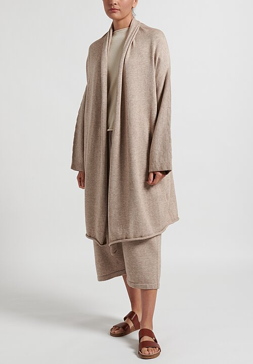 Lauren Manoogian Long Slouch Cardigan in Ecru Melange