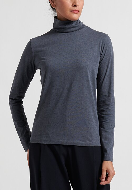 Handvaerk Rollneck Tee in Steel Grey