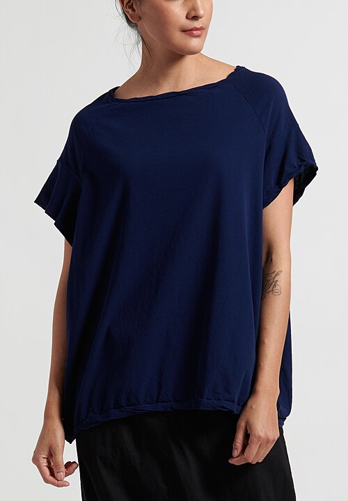 Rundholz Dip Cotton T-Shirt in Blue