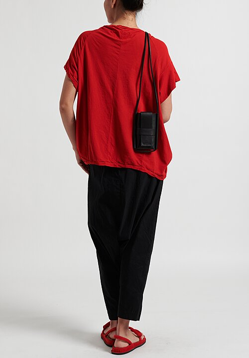 Rundholz Dip Cotton T-Shirt in Red