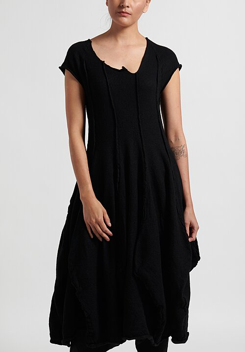 Rundholz Dip Sleeveless Knitted Dress in Black
