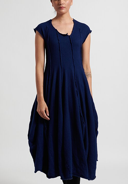 Rundholz Dip Sleeveless Knitted Dress in Navy Blue