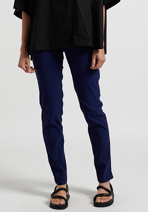 Rundholz Dip Straight Leg Stretch Pants in Blue