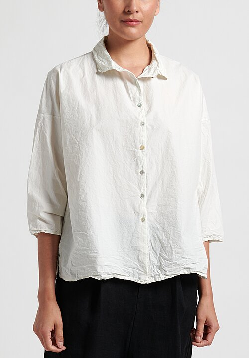 Album Di Famiglia Short Collar Shirt in White