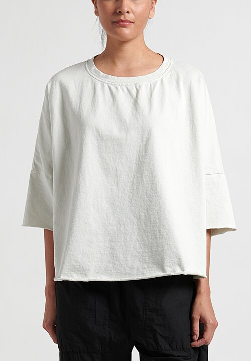 Album Di Famiglia Oversized Crew Neck Shirt in Off-White
