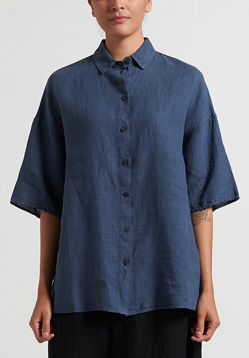 Oska Oversize Levina Blouse in Sphere Blue