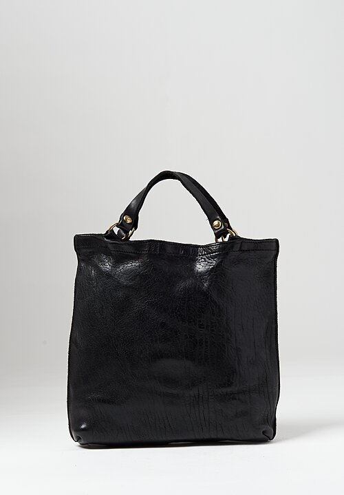 Campomaggi Leather Medium Shopper in Black