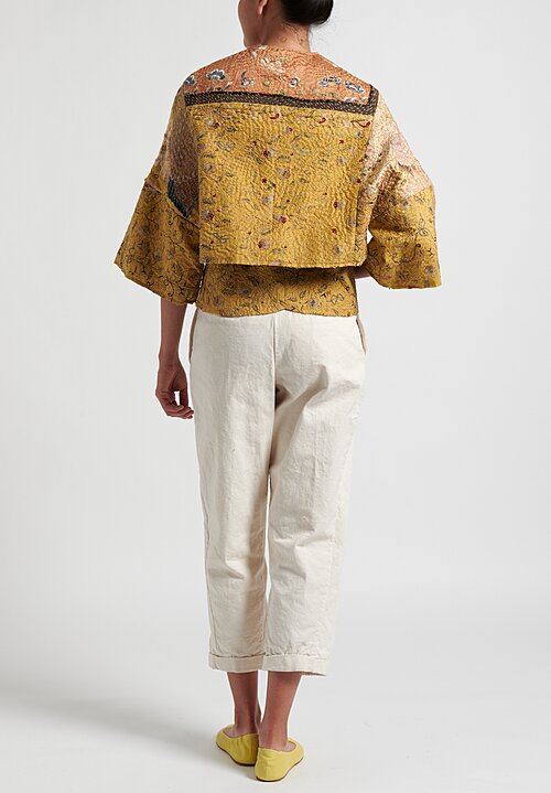 By Walid 19th C. Embroidery Short Bella Jacket & Bette Bustier in Gold