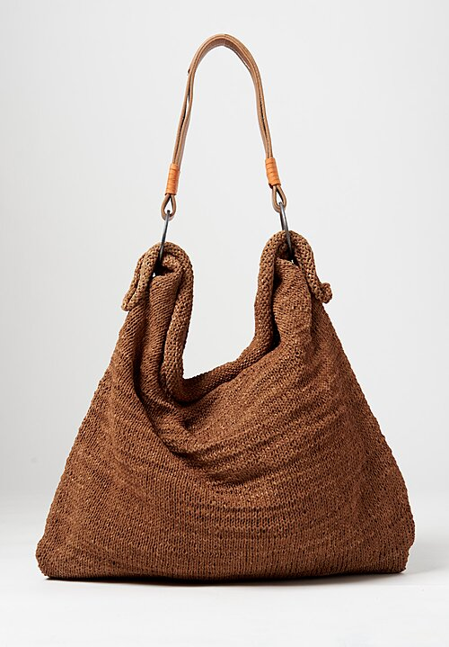 Massimo Palomba Calypso Net Hobo Bag Tabac Brown