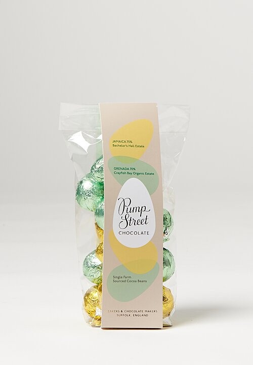 Pump Street Chocolate Eggs, Jamaica 75%, Grenada 70%
