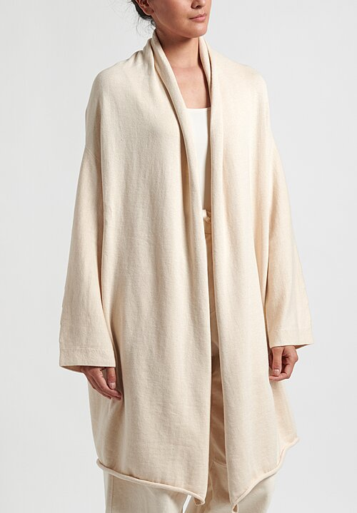 Lauren Manoogian Long Slouch Cardigan in Raw White