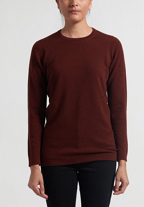 Hania New York Cashmere Crewneck in Red Grous