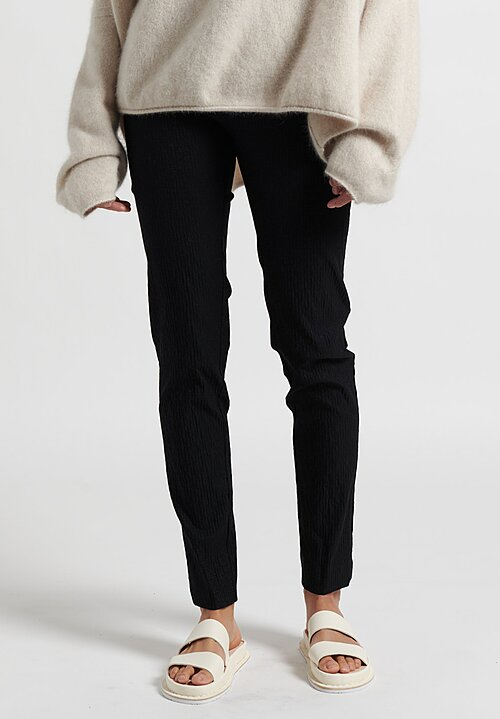 Rundholz Skinny Leg Stretch Pants in Black