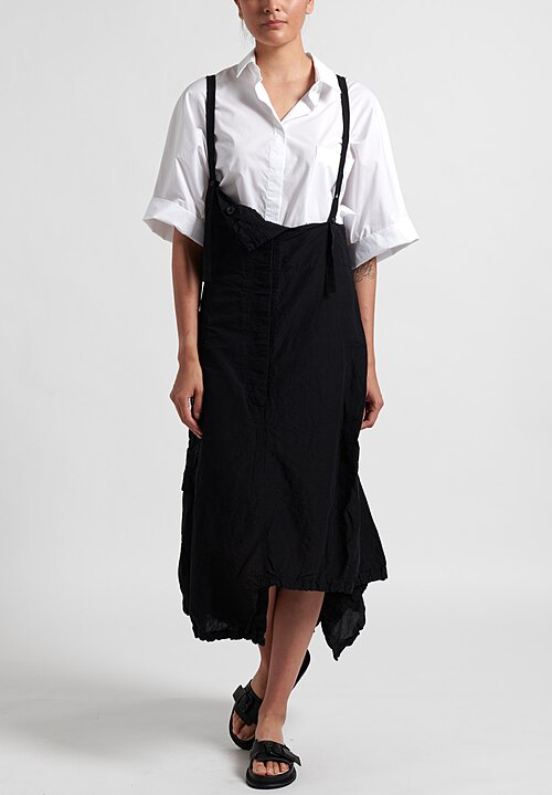 Rundholz Multi-Pocket Overall Dress in Black