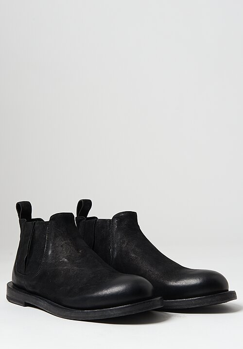 Rundholz Dip Leather Ankle Bootie in Black