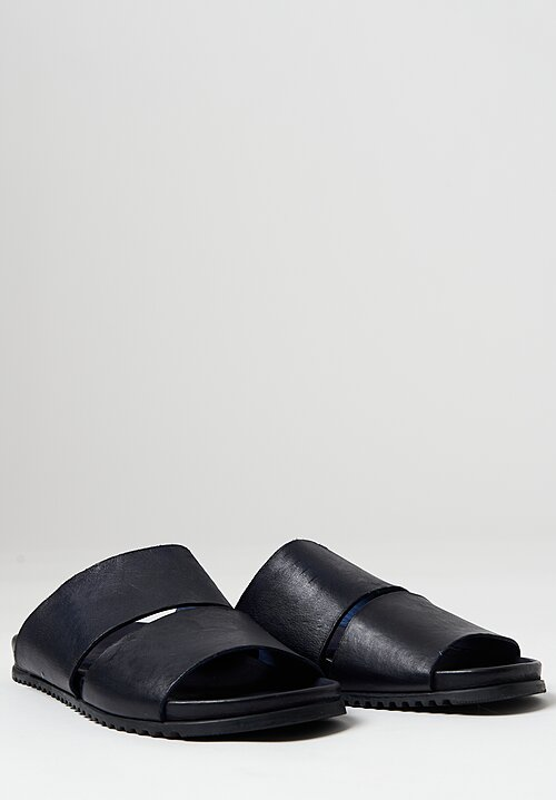 Rundholz Dip Leather Slip-On Sandal	in Blue