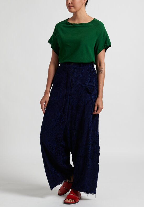 Rundholz Dip Jacquard Drop Crotch Pants in Blue