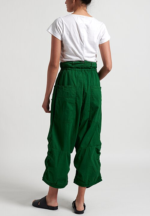Rundholz Dip Multi-Pocket Drop Crotch Pants in Green
