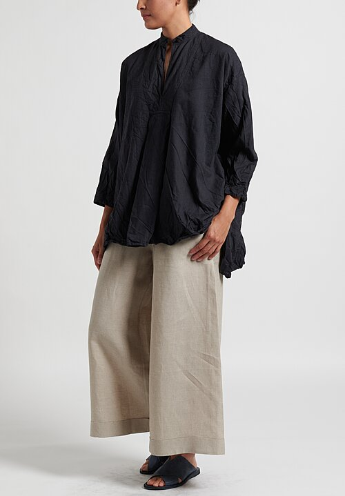 Daniela Gregis Washed Kora Chicory Top in Anthracite