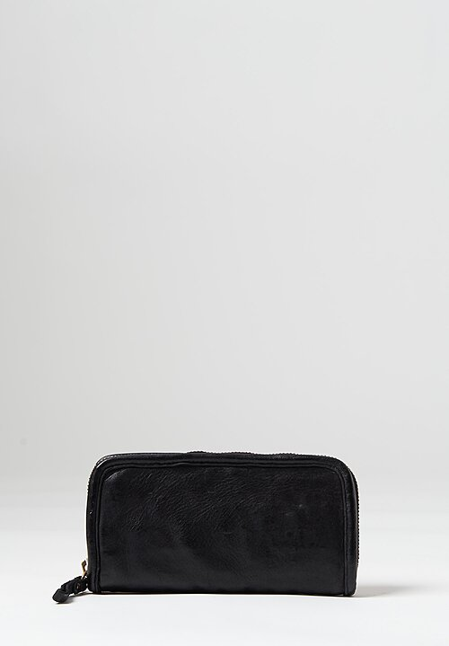 Campomaggi Leather Zipper Wallet in Black