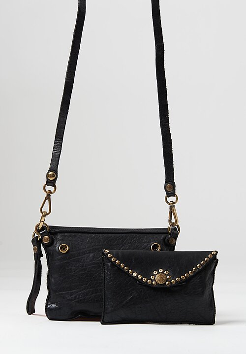 Campomaggi Duo Of Riveted Shoulder Bags Nero Black