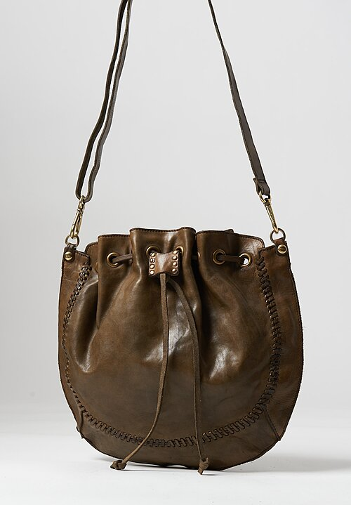 Campomaggi Large Round Bucket Bag Military Brown