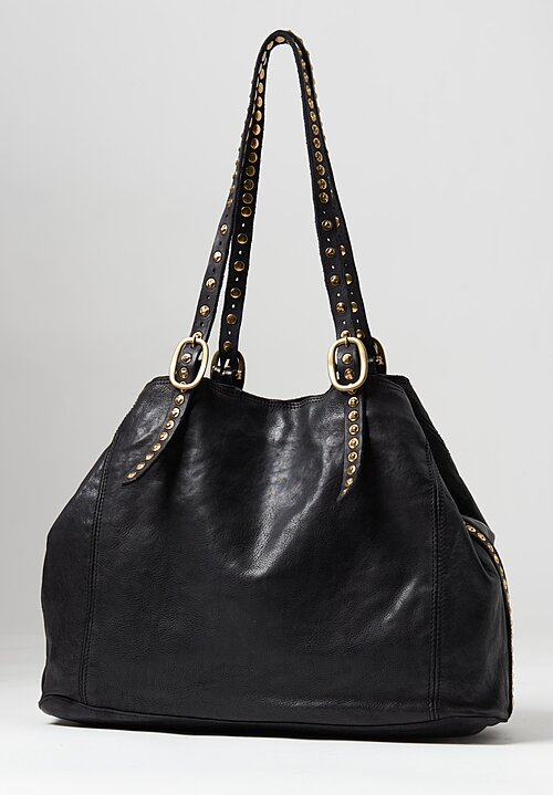 Campomaggi Riveted Shopping Bag Black