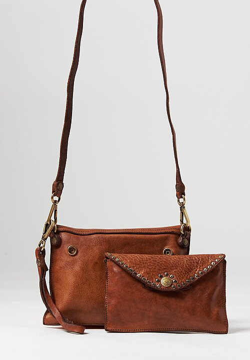 Campomaggi Duo Of Riveted Shoulder Bags Cognac
